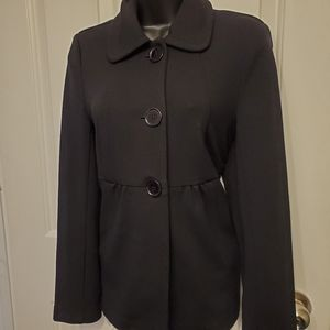 Cleo Rayon Polyester Fall Peacoat Black Size 8